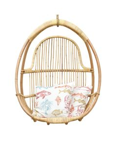 Natural Rattan Hanging Chair With Rope