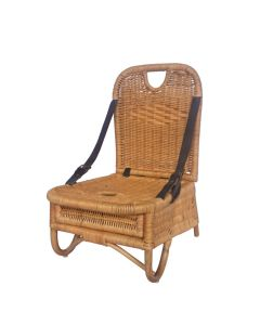 Woven Rattan Picnic Chair with Storage