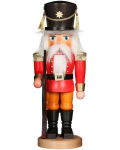 Red Soldier with Rifle Traditional German Nutcracker Christmas Decoration