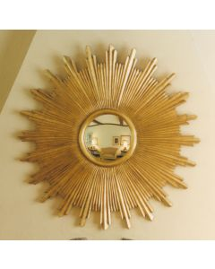 Carvers' Guild Large Sunburst Mirror - Available in Two Different Finishes
