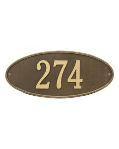 Whitehall Products Personalized Madison Oval Standard Wall Plaque - Antique Brass