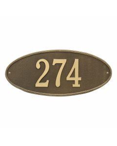 Whitehall Products Personalized Madison Oval Standard Wall Plaque - Bronze/Gold