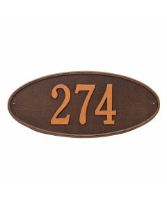 Whitehall Products Personalized Madison Oval Standard Wall Plaque - Antique Copper