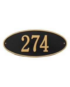 Whitehall Products Personalized Madison Oval Standard Wall Plaque - Black/Gold