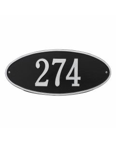Whitehall Products Personalized Madison Oval Standard Wall Plaque - Black/Silver