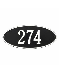 Whitehall Products Personalized Madison Oval Standard Wall Plaque - Black/White
