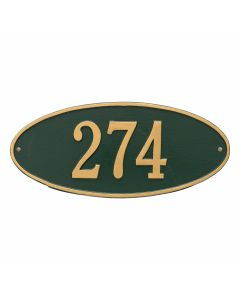 Whitehall Products Personalized Madison Oval Standard Wall Plaque - Green/Gold