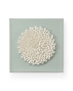 Hand Made Ceramic Succulent Wall Art Sculpture in Mint Green - ON BACKORDER UNTIL APRIL 2021