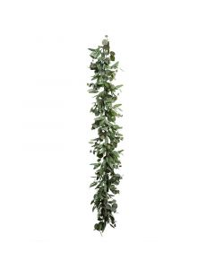 6 Foot Faux Eucalyptus Leaf Christmas Garland