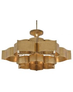 Currey & Company Grand Large Lotus Chandelier In Gold