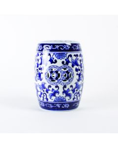 Blue Chinoiserie Mini Garden Stool