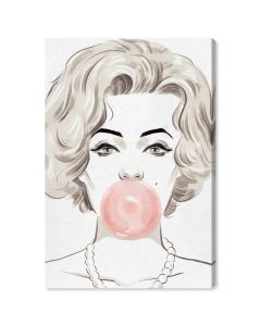 """Bubblegum Beauty"" Fashion Canvas Wall Art"