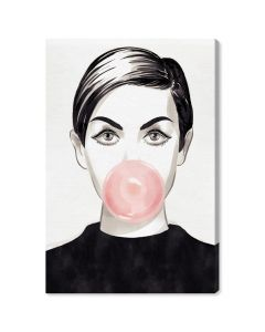 """Bubblegum Idol"" Fashion Canvas Wall Art"