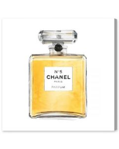 """Classic No. 5"" Chanel Perfume Bottle Fashion Canvas Wall Art"