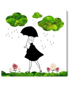 """Cloudy With a Chance of Moss"" Wall Art - Variety of Sizes Available"