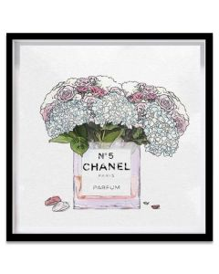 """Fancy Bouquet"" Chanel Inspired Framed Fashion Wall Art"