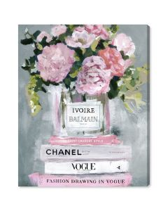 """Florale Pastel"" Fashion Canvas Wall Art"