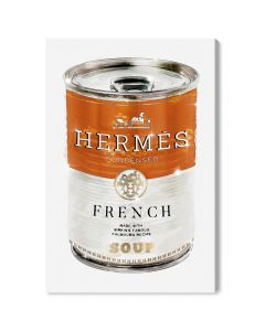 """French Luxe Soup"" Hermes-Inspired Fashion Glitter Wall Art"