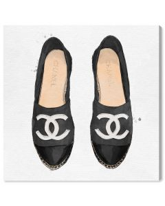 """Lady Slippers Black"" Chanel Inspired Fashion Canvas Wall Art"