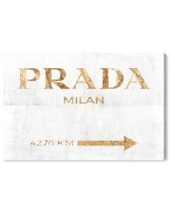 """Milan Pure"" Prada Fashion Wall Art - Variety of Sizes Available"