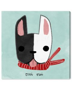 """Oui Oui Frenchie"" French Dog Children's Wall Art - Variety of Sizes Available"