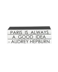 """Paris Is Always A Good Idea"" Audrey Hepburn Quote 3 Volume Decorative Book Set"