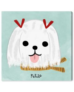 """Petite Maltese"" French Dog Children's Wall Art - Variety of Sizes Available"