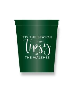 'Tis The Season Persaonlized Party Cups