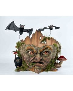 Walter Woodard Tree Stump Candy Bowl Decoration