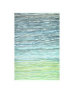 Abstract Ocean Waves Blue and Green Framed Wall Art - Available in 2 Sizes