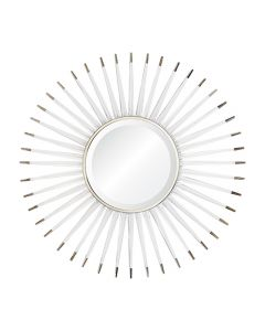 Acrylic Sunburst Wall Mirror with Nickel Accents