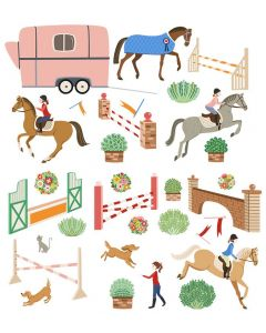 Equestrian Theme Decal Wall Art Kit for Kids