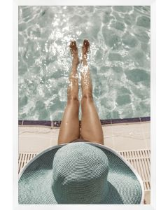Afternoon by the Pool Framed Wall Art