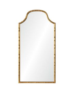 Celerie Kemble Aged Gold Leaf Bamboo Mirror