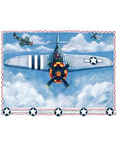 Airplane in the Clouds Mural Decals Wall Art for Kids