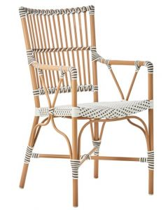 AluRattan™ Arm Chair with Almond Colored Frame