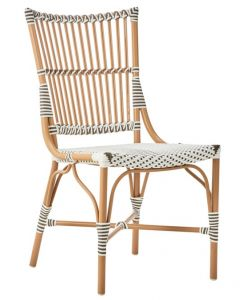 AluRattan™ Side Chair with Almond Colored Frame