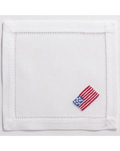 Set of 4 American Flag Cocktail Napkins