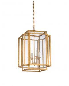 Amherst Chandelier in Antique Gold Leaf