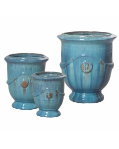 Anduze Ceramic Pot in Turquoise - Available in Three Different Sizes - SOME SIZES ON BACKORDER - CALL TO CONFIRM AVAILABILITY