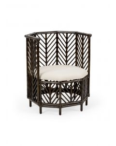 Angelica Black Wash Bamboo Chair - ON BACKORDER UNTIL MAY 2021
