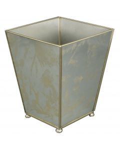 Antique Mirror Wastebasket