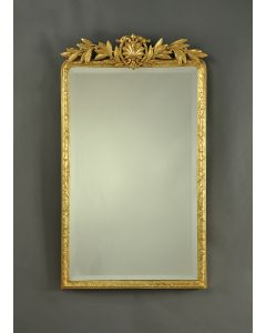 Carvers Guild Antique Gold Leaf Laurel Crown Wall Mirror