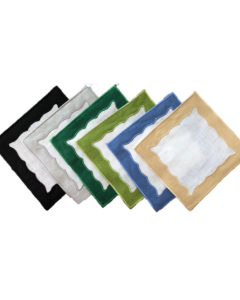 Applique Square Cocktail Napkin - Available in Many Color Options