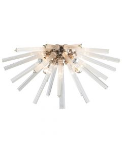 Arteriors Hanley Sunburst Flush Mount with Polished Nickel Dome