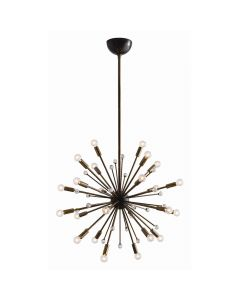 Arteriors Imogene Small Sunburst Sputnik Chandelier with Vintage Brass Hardware
