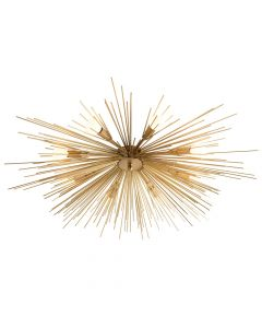 Arteriors Roxanne Antique Brass Sputnik Sunburst  Flush Mount
