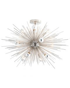 Arteriors Zanadoo Polished Nickel Short Sputnik Sunburst  Chandelier