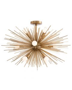 Arteriors Zanadoo Antique Brass Short Sputnik Sunburst  Chandelier