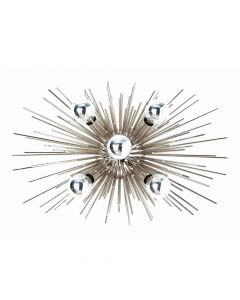 Arteriors Zanadoo Polished Nickel Sputnik Sunburst  Sconce/Ceiling Mount